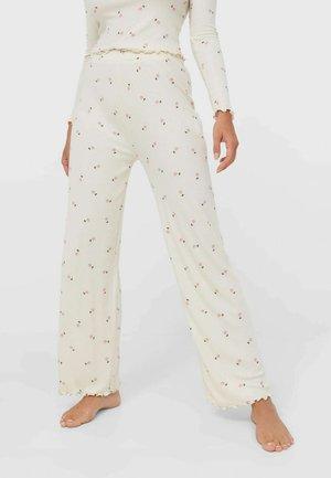 MIT BLUMENPRINT  - Pyjama bottoms - beige