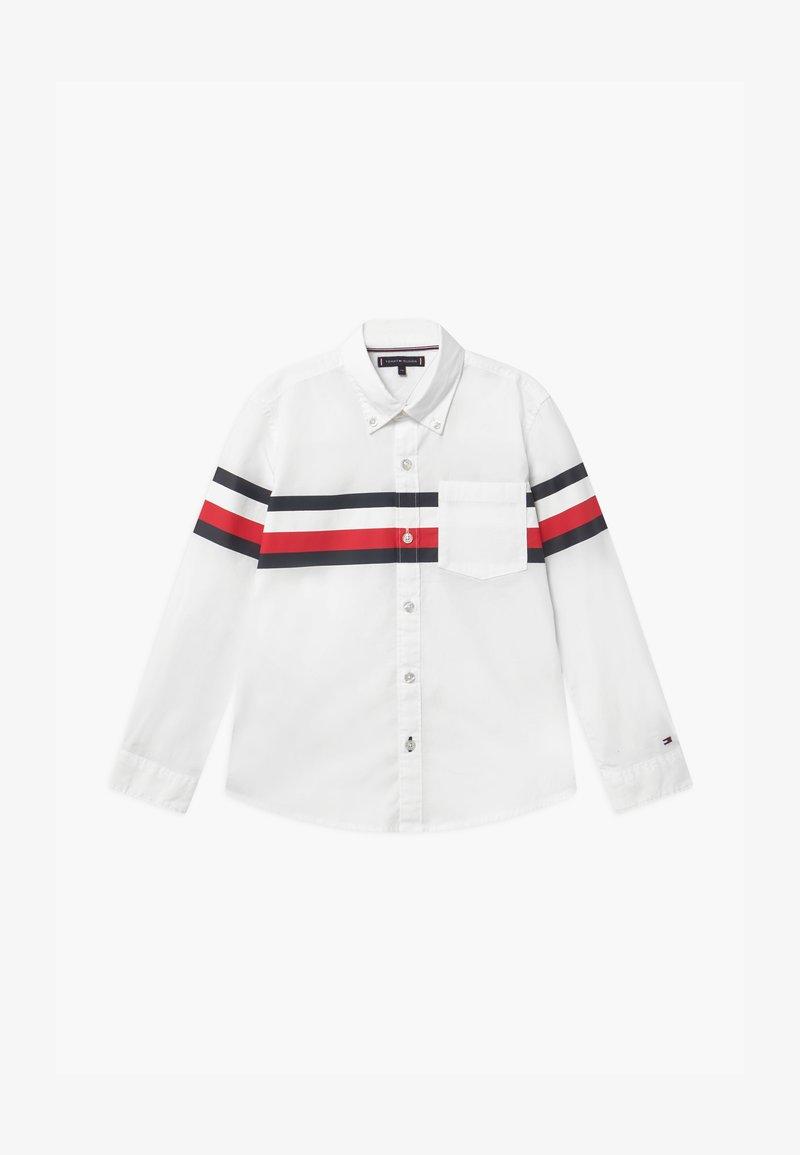 Tommy Hilfiger - PRINTED GLOBAL STRIPE - Shirt - white