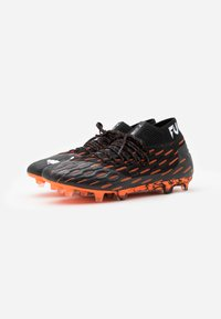 Puma - FUTURE 6.1 NETFIT FG/AG - Fotbollsskor fasta dobbar - black/white/shocking orange - 3