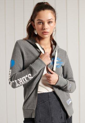 Zip-up sweatshirt - dark marl