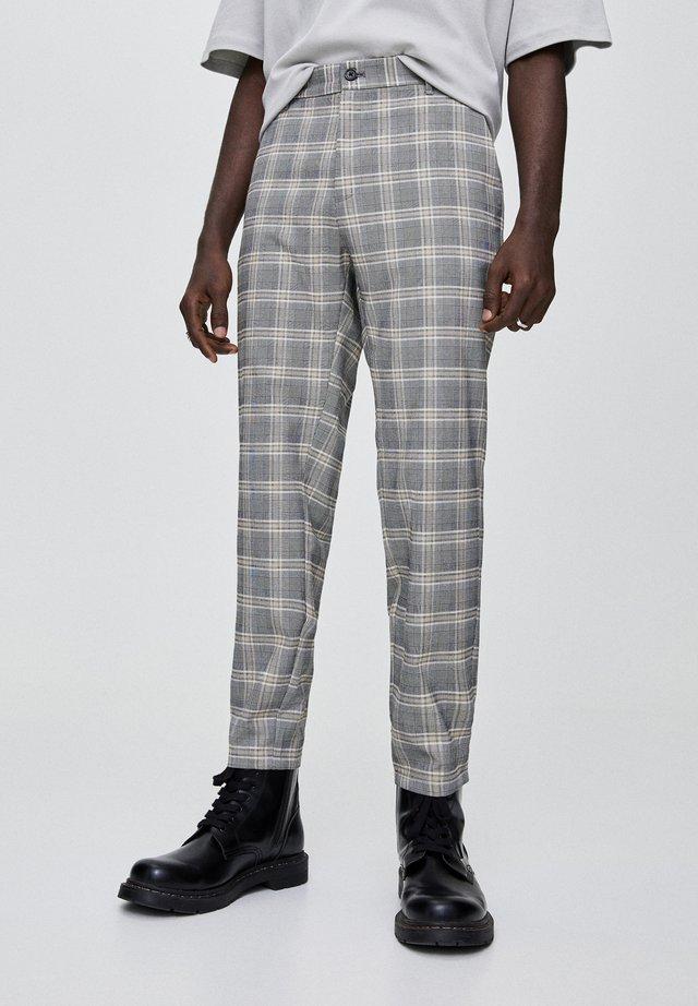 Spodnie materiałowe - mottled beige