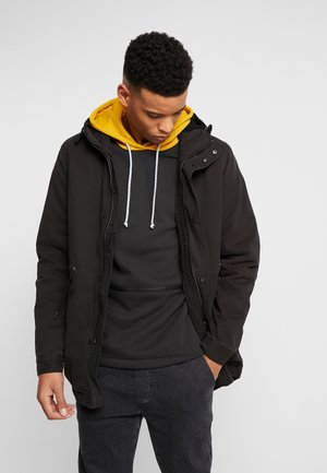 UNISEX HOODED PARKA - Parkatakki - black