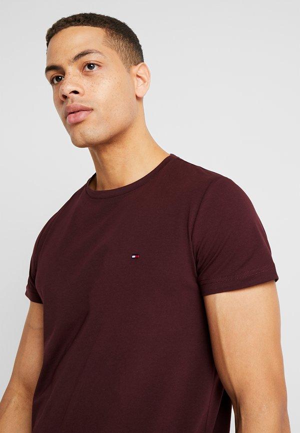 Tommy Hilfiger STRETCH TEE - T-shirt basic - red/bordowy Odzież Męska WGSQ
