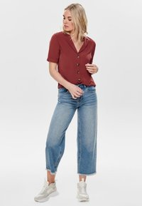 ONLY - Button-down blouse - dark red - 1