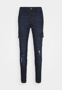 Brave Soul - ARCHIE - Cargo trousers - dark blue wash - 4
