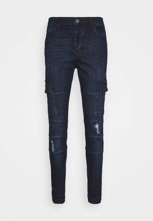 ARCHIE - Cargo trousers - dark blue wash