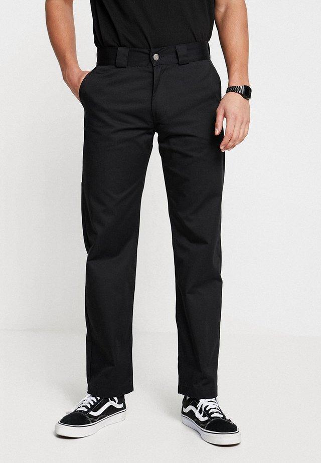 STRAIGHT WORK - Spodnie materiałowe - black