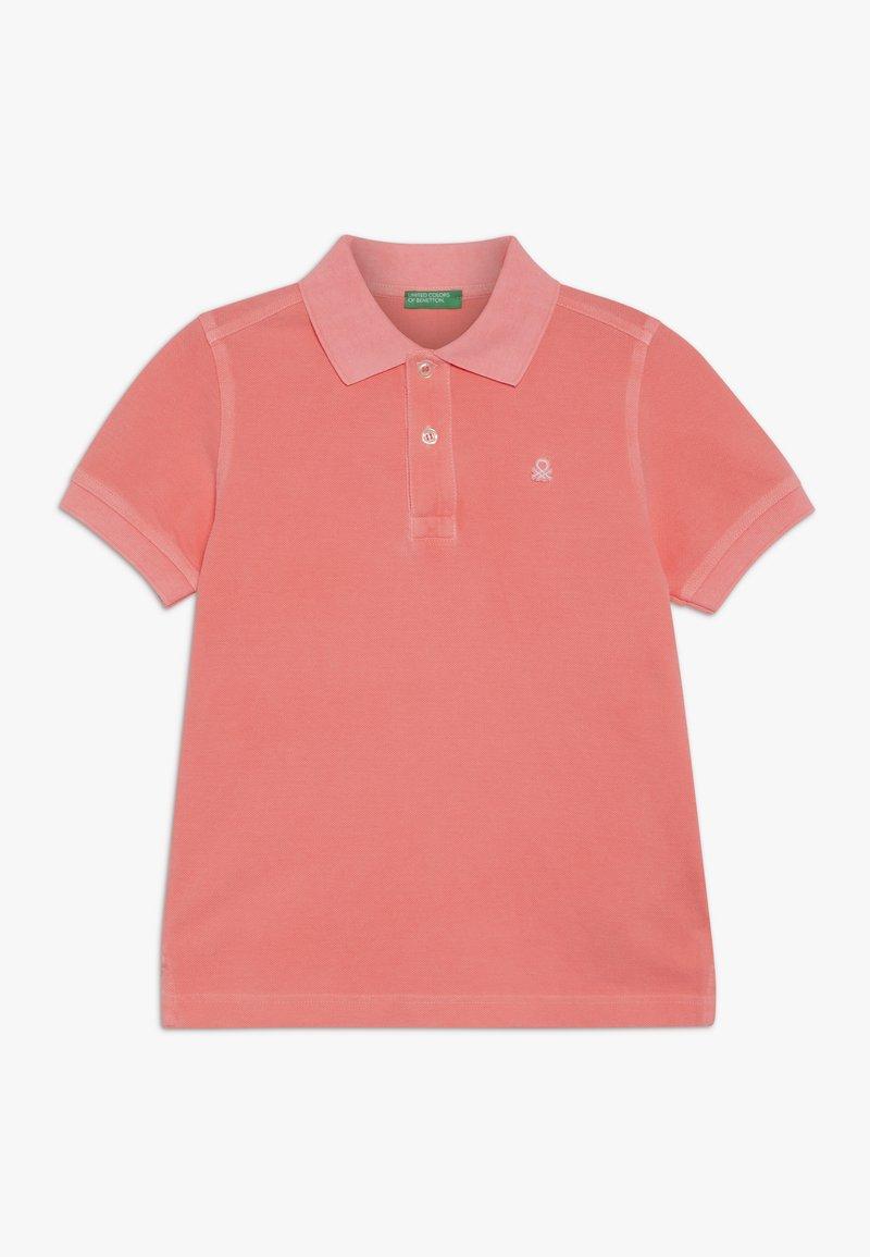 Benetton - Koszulka polo - neon pink