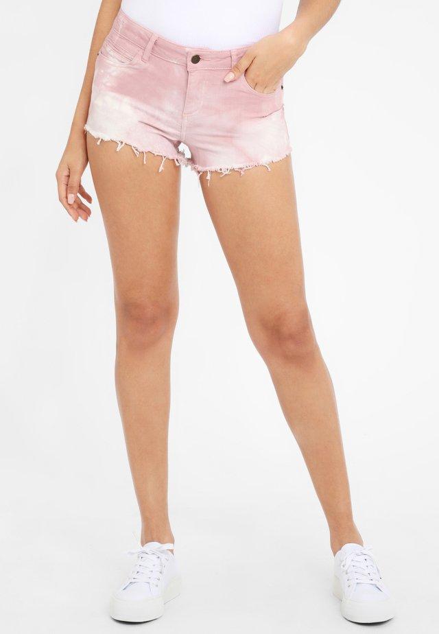 Shorts di jeans - flieder