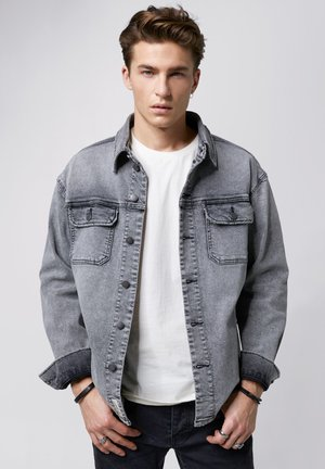 AIVEN - Denim jacket - mid grey