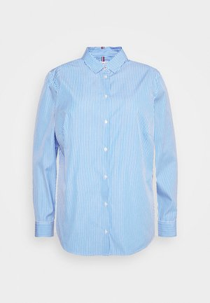 ESSENTIAL - Button-down blouse - white/copenhagen blue