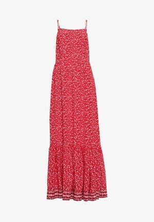 FLORAL MAXI STRAP DRESS - Długa sukienka - deep crimson