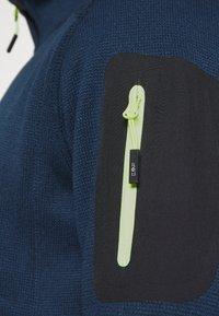 CMP - Fleece jacket - blue ink/yellow fluo - 5
