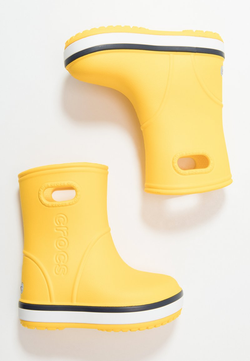 Crocs - CROCBAND RAIN BOOT - Botas de agua - yellow/navy