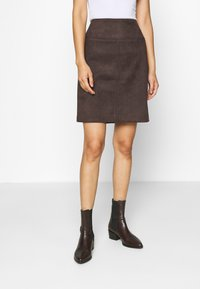 comma - Mini skirt - dark brown - 0