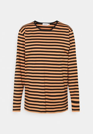 PITKÄHIHA - Long sleeved top - dark orange/black
