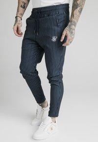 SIKSILK - SMART JOGGER PANT - Pantaloni - navy/grey - 0