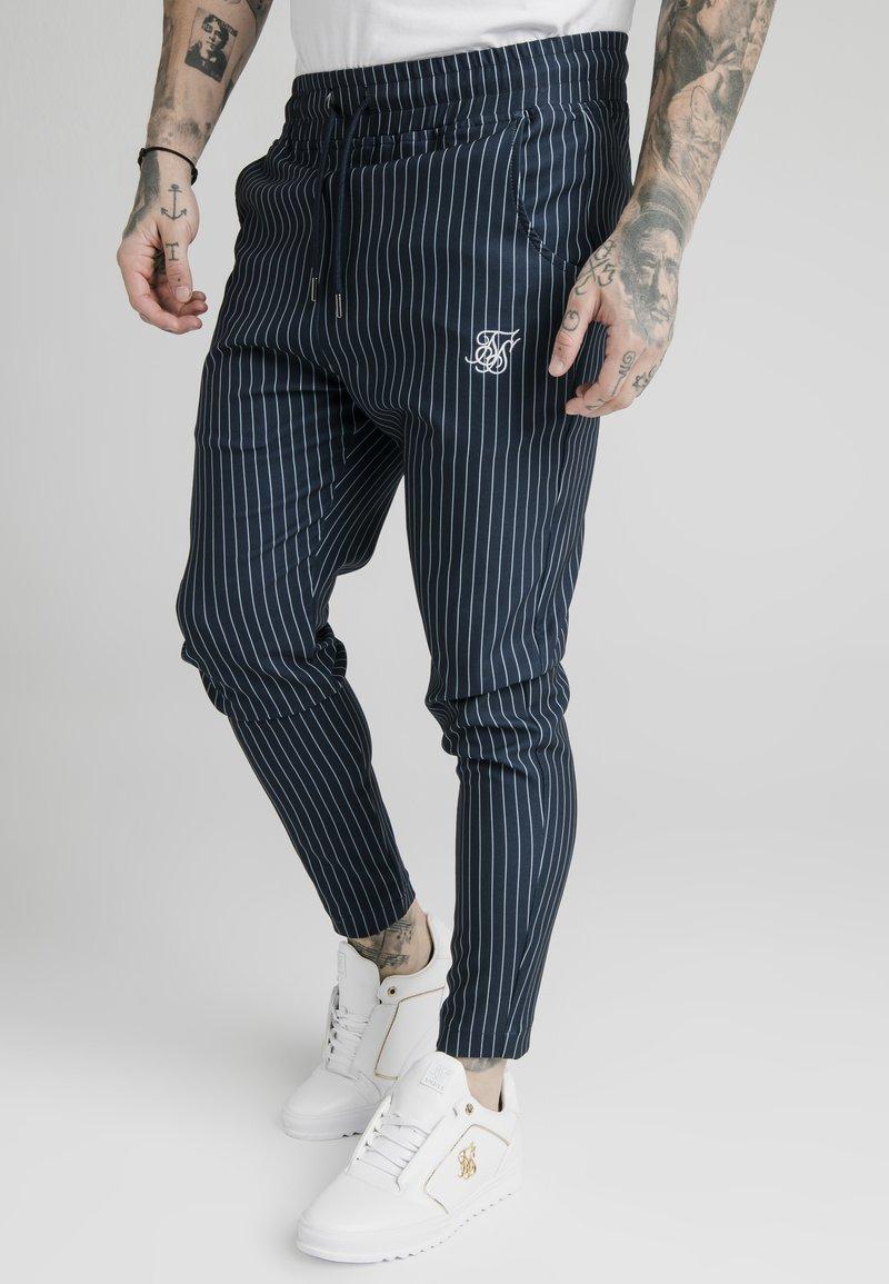 SIKSILK - SMART JOGGER PANT - Pantaloni - navy/grey