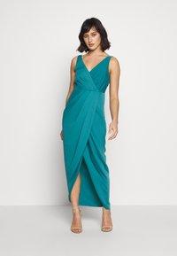 Forever New Petite - VICTORIA WRAP DRESS PETITE - Suknia balowa - teal - 1
