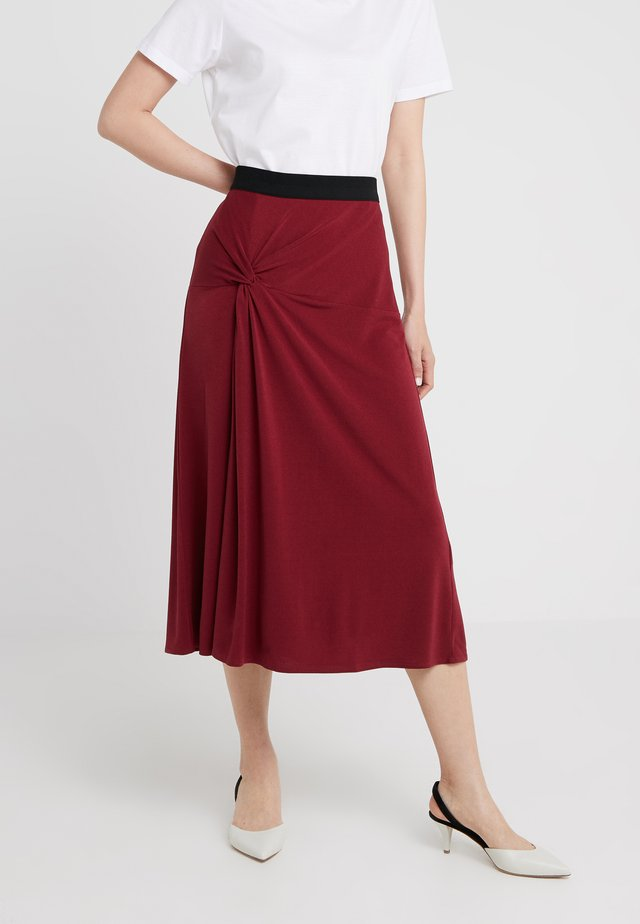 CINTIA - A-line skirt - cabernet