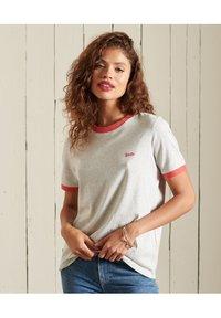 Superdry - VINTAGE LOGO  - Basic T-shirt - off white marl - 0