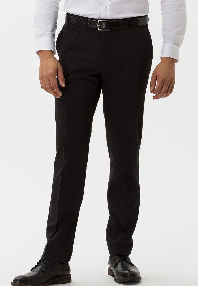 ENRICO - Suit trousers - black