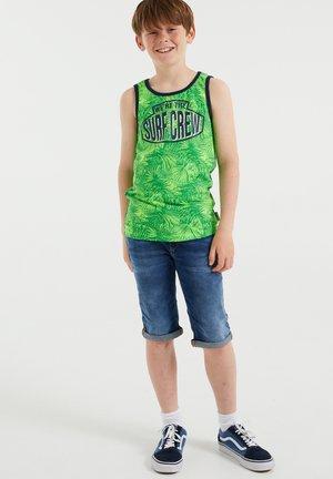 SINGLET MET DESSIN - Top - bright green