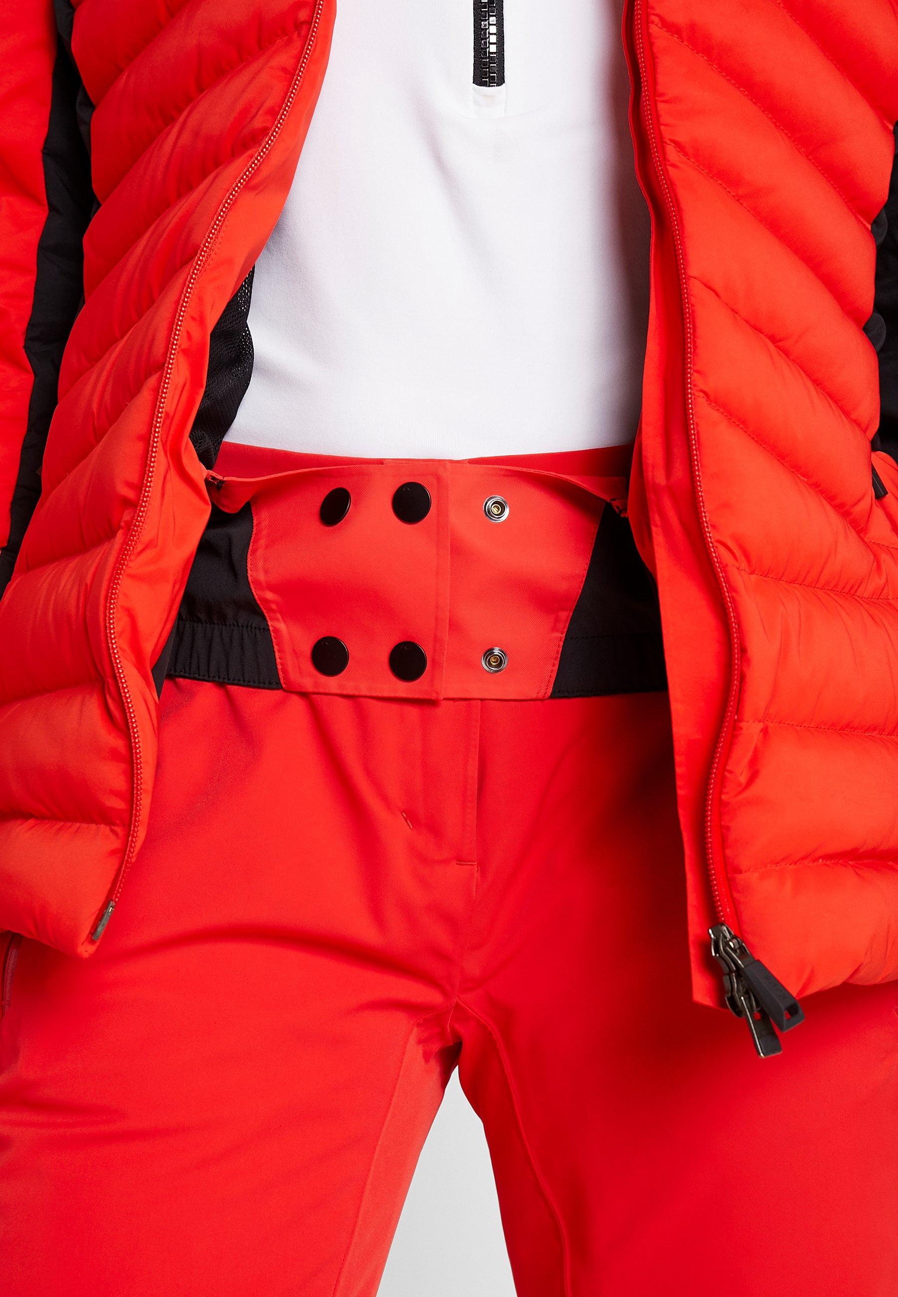 WOMEN DUANA JACKET Skijacke fiery redblack