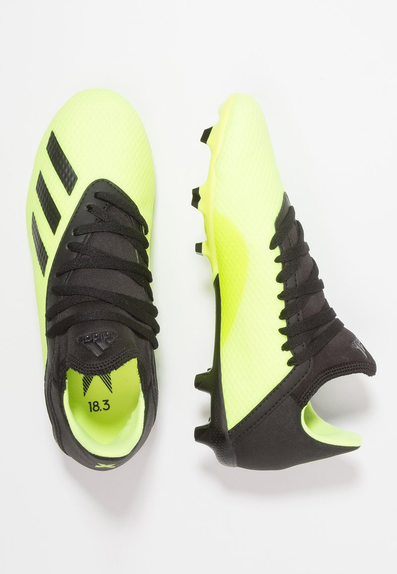 adidas Performance - X 18.3 FG  - Moulded stud football boots - solar yellow/core black