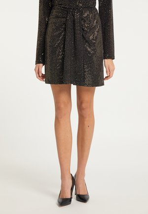 A-line skirt - gold schwarz