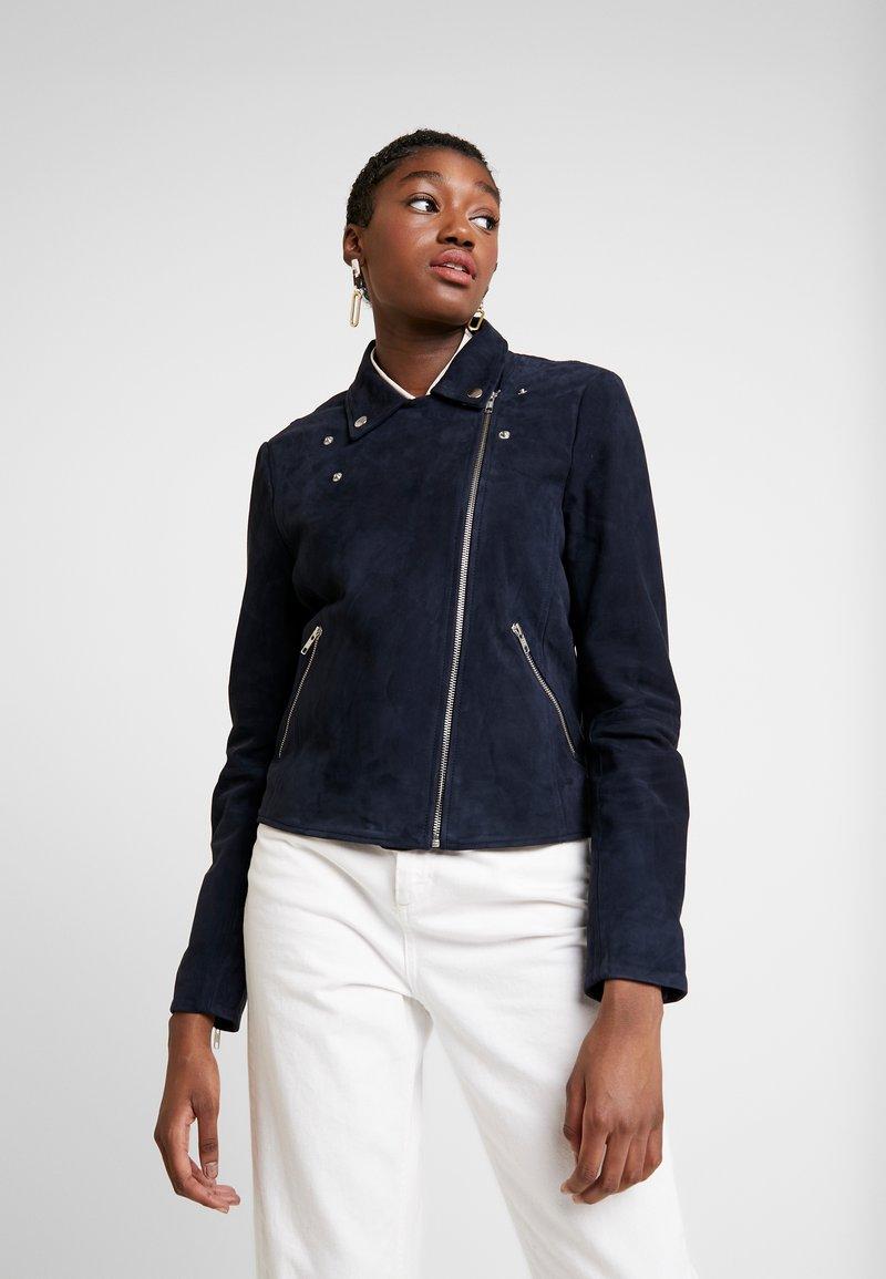Selected Femme - SLFMARLEN JACKET - Leather jacket - night sky