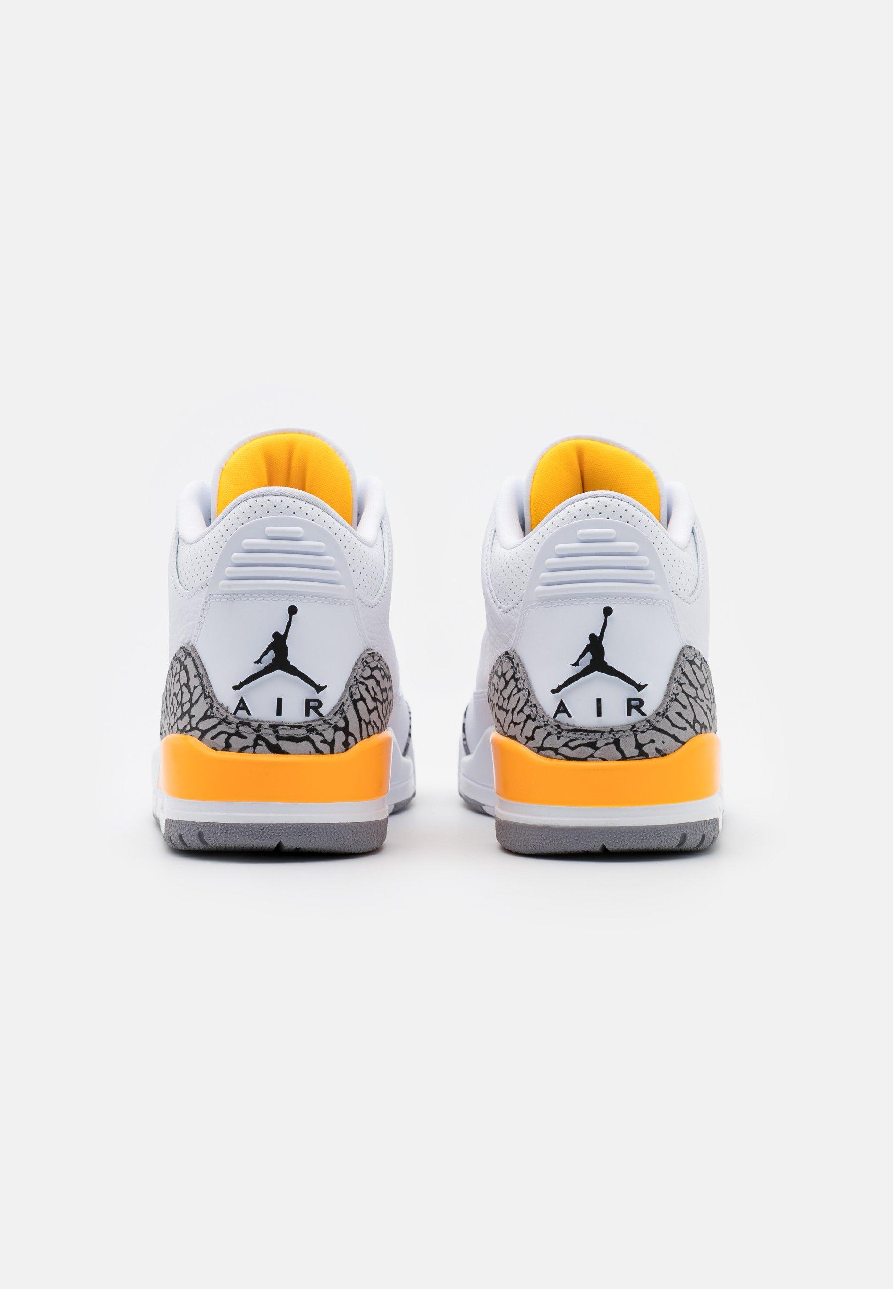 Jordan AIR 3 RETRO - Baskets montantes - white/black/laser orange/cement grey