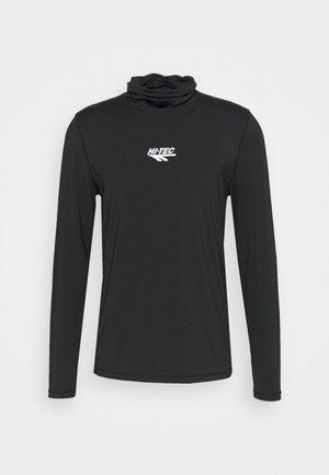 HENRI HIGH NECK - T-shirt à manches longues - jet black