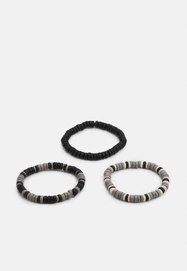 JACBLUE BRACELET 3 PACK  - Náramek - black/black/grey/black/cream