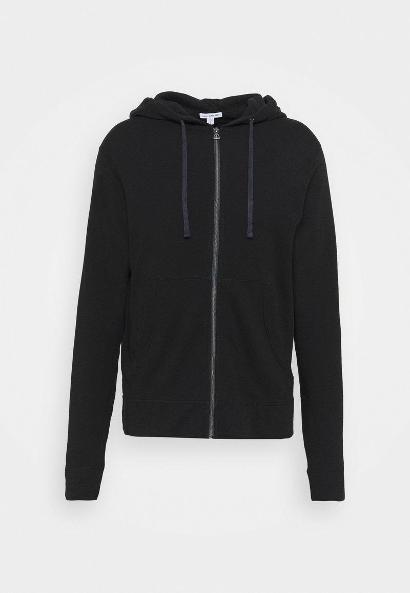 James Perse - VINTAGE HOODIE - Sweater met rits - black