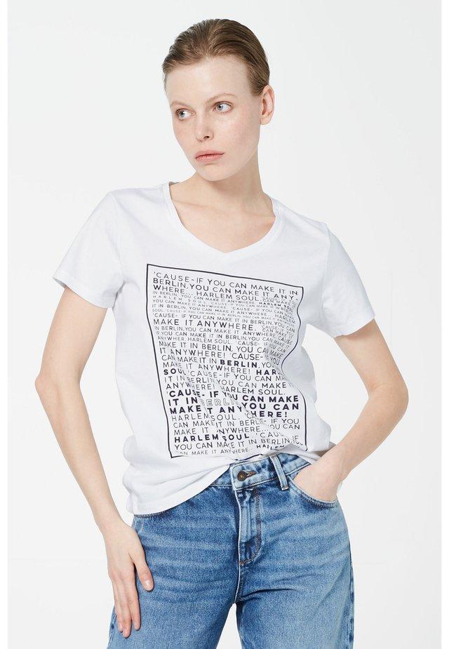 PA-RIS - Print T-shirt - white / black