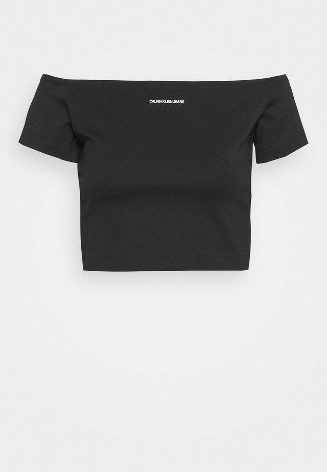 MILANO BARDOT TOP - Print T-shirt - black