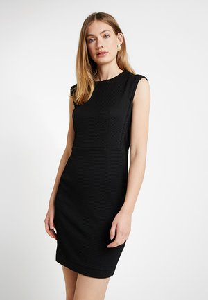TEXTURED DRESS - Shift dress - black