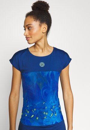 TIJANA TECH TEE - Print T-shirt - dark blue