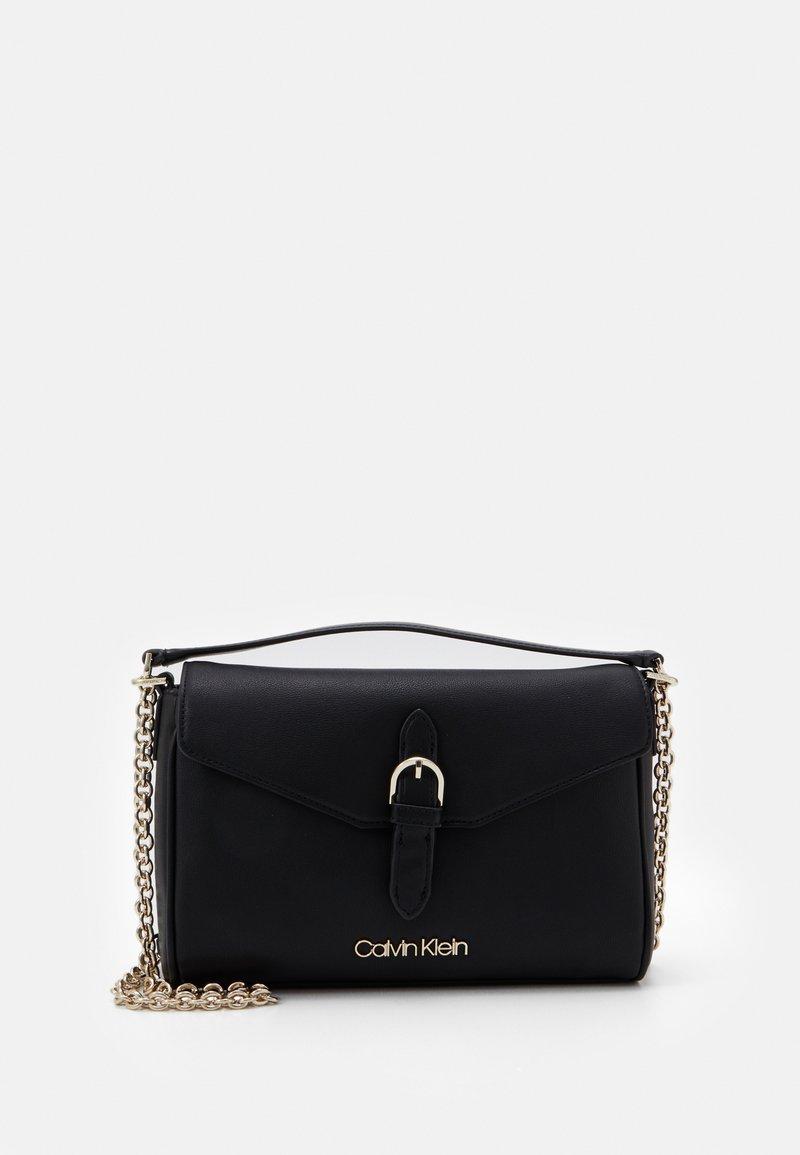 Calvin Klein - FLAP CROSSBODY - Across body bag - black
