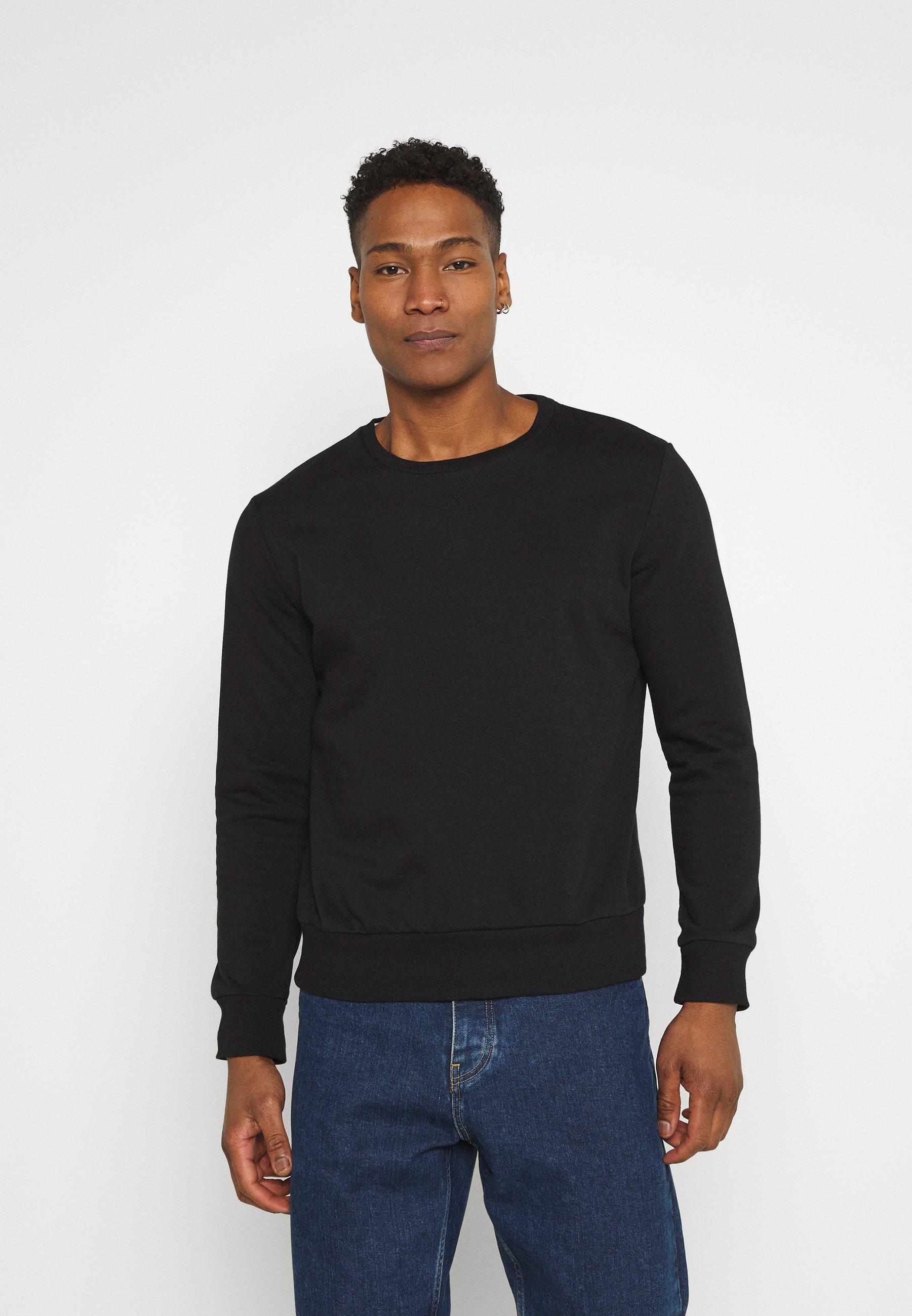 Men JONES - Sweatshirt - jet black/charcoal
