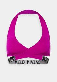 Calvin Klein Swimwear - INTENSE POWER CROSSOVER BRALETTE - Bikini pezzo sopra - purple - 4