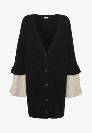 Cardigan - white/black