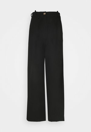 ANGELLA WIDE TROUSER - Trousers - black