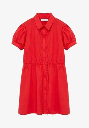 Košilové šaty - rosso