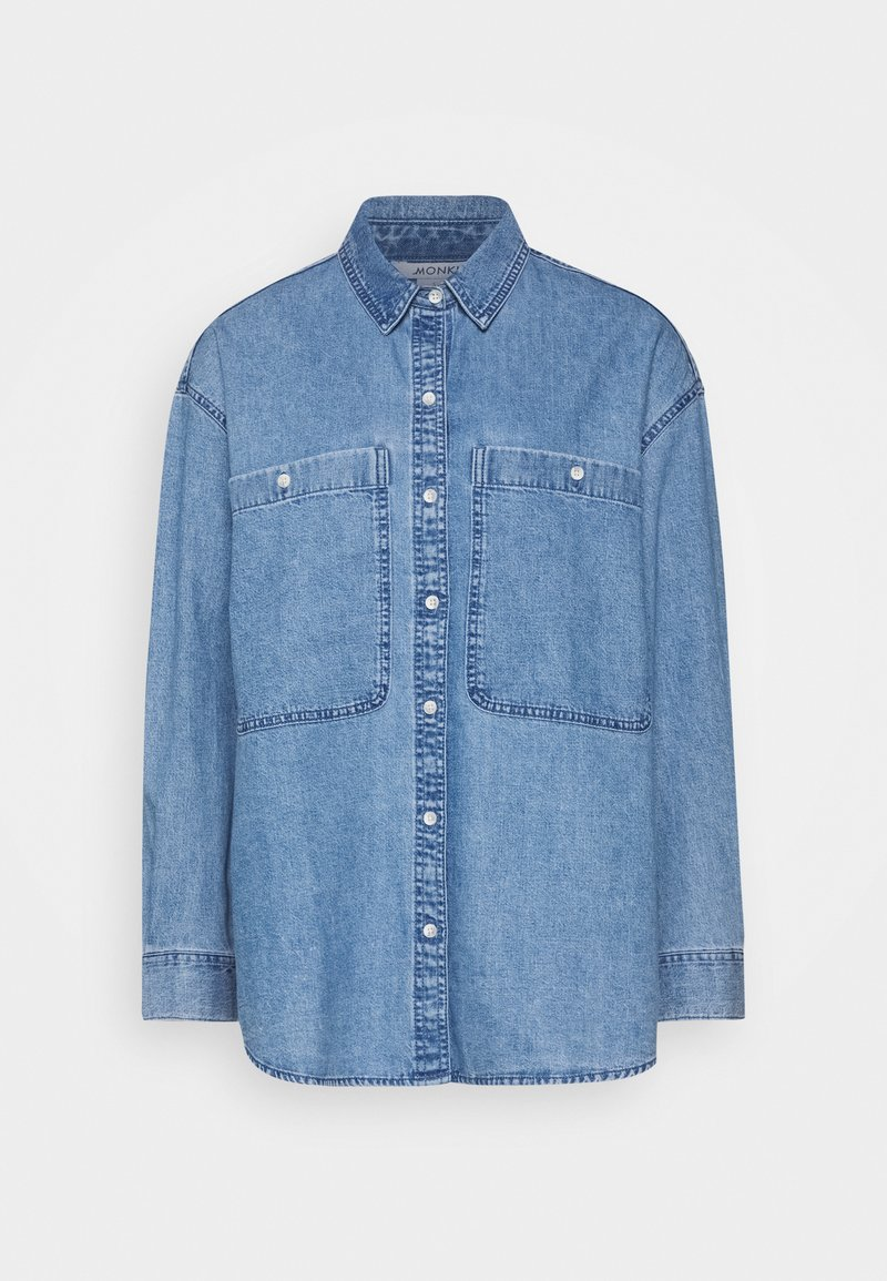 Monki - Button-down blouse - blue medium dusty