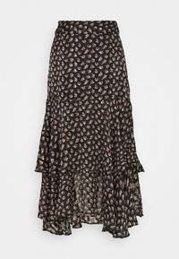 Scotch & Soda - MIDI SKIRT IN SHEER STRIPE QUALITY - A-lijn rok - black - 1