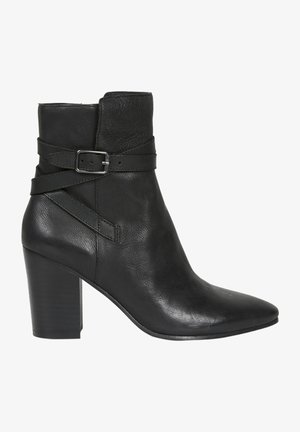 MIT SCHNALLE - High heeled ankle boots - black