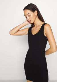 Even&Odd - BASIC JERSEYKLEID - Shift dress - black - 4