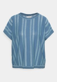 Nümph - NUDAGAN DARLENE - T-shirts med print - blue shadow - 4
